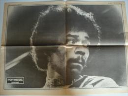 POSTER Du Magazine POP MUSIC : JIMI HENDRIX - Plakate & Poster