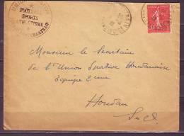 Lettre Cachet JOUARS - PONTCHARTRAIN   UNION SPORTIVE  Football Sports Athletisme Annee 1932 Pour HOUDAN