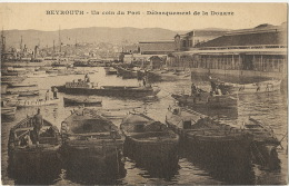 Beyrouth Un coin du port Debarquement de la Douane Customs  ecrite Hadelt 1922