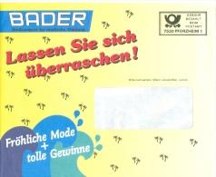 BRD Pforzheim Gebühr Bez. Bader Großversand Für Modische Kleidung Mode Palmen - Textil