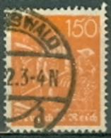 Deutsches Reich Mi. 189 Gest. Schnitter - Deutschland
