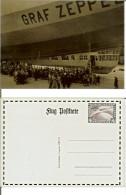 Graf Zeppelin (Flug Postcarte). RIPRODUZIONE - COPY (animata, Imbarco Dirigibile) - Dirigibili