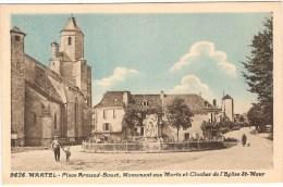 46- Martel - Place Armand Bouat - L'hotel De Ville - 2 Cartes . Bel état- Convoyeur Ligne Soulac à St Denis - 1933 - Autres Communes