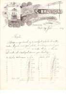 1909 Lettre Facture Invoice Bruigom Bloemenmagazijn Delft Nederland Flowers - Netherlands