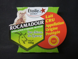 Etiquette Emballage Fromage Chèvre ROCAMADOUR Etoile Du Quercy 105g - Fromage