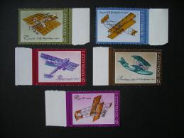USSR Russian Aircraft History 1974 MNH - Vliegtuigen