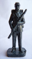 FIGURINE KINDER  METAL SUDISTE 4 1862 SOLDAT CONFEDERE 80's Fer - KRIEGER SÜDSTAATEN Soldat Confederate (1) - Figurines En Métal