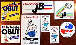 Lot De 8 Autocollants Sur Les Boules La Pétanque 5 Obut & 3 JB - Pétanque