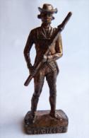 FIGURINE KINDER  METAL SOLDAT AMERICAIN USA 1780 CAPORAL 6 80�s Cuivre - KRIEGER USA KAPORAL