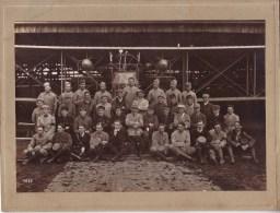PHOTOS - AVIATION - MILITARIA - GUERRE 1914-1918 - PHOTO - AVION SOUS UN HANGAR - BREGUET , CAUDRON , FARMAN .... ???