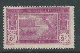 Cote D´Ivoire N° 83 X Type Lagune Ebrié  : 3 F. Lilas-rose  Trace De  Charnière Sinon TB - Nuovi