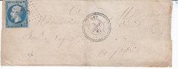 Savoie,  FLUMET, Cachet 22 Perlé, Pc 4274, Enveloppe Fatiguée - Marcophilie (Lettres)