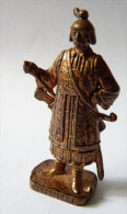 FIGURINE KINDER  METAL SOLDAT MONGOLE  4 RP 80�s Cuivre - KRIEGER mongolen