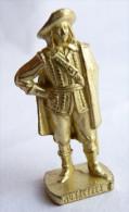 FIGURINE KINDER  METAL SOLDAT MOUSQUETAIRE FRANCAIS  1 Scame 80's Or - KRIEGER Französische Musketiere 1670 - Metal Figurines