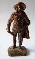FIGURINE KINDER  METAL SOLDAT MOUSQUETAIRE FRANCAIS  4 RP 80's Cuivre - KRIEGER Französische Musketiere 1670 - Metal Figurines