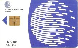 TARJETA DE PANAMA DE CABLE & WIRELESS DE $10 CHIP ROJO - Panamá