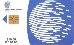 TARJETA DE PANAMA DE CABLE & WIRELESS DE $10 CHIP NEGRO - Panamá