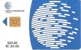 TARJETA DE PANAMA DE CABLE & WIRELESS DE $20 CHIP NEGRO - Panamá