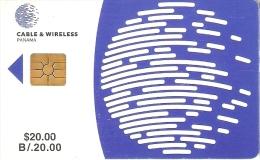 TARJETA DE PANAMA DE CABLE & WIRELESS DE $20 CHIP ROJO - Panamá