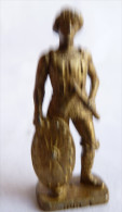 FIGURINE KINDER  METAL SOLDAT HUN 4 Scame 1994 Laiton - KRIEGER Hunnen