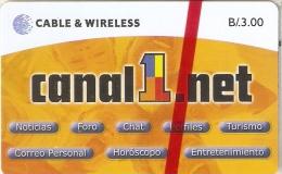 TARJETA DE PANAMA DE CABLE & WIRELESS DE B/.3.00 CANAL1.NET (NUEVA-MINT) - Panamá