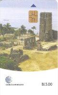 TARJETA DE PANAMA DE CABLE & WIRELESS DE B/.5.00 CIUDAD PANAMA LA VIEJA - Panamá