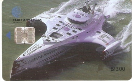 TARJETA DE PANAMA DE CABLE & WIRELESS DE B/3.00  (BARCO-SHIP) - Panamá