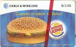 TARJETA DE PANAMA DE CABLE & WIRELESS DE B/3.00 DEL BURGER KING  (NUEVA-MINT) - Panamá
