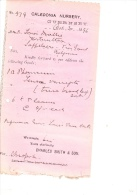 1896  Lettre Invoice  Caledonia Nursery Guernsey - United Kingdom