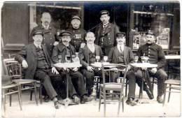 Carte Photo, Congrés PTT Paris 1912 ?, Buveurs D'absinthe ? (AL) - Berufe