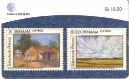 TARJETA DE PANAMA DE CABLE & WIRELESS DE B/10.00 (SELLO-STAMP)