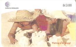 TARJETA DE PANAMA DE CABLE & WIRELESS DE B/3.00 NIÑOS EN LA PLAYA