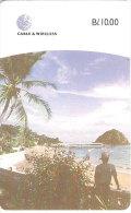 TARJETA DE PANAMA DE CABLE & WIRELESS DE B/10.00 ISLA DE TABOGA (CHIP DETRÁS) - Panama