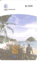TARJETA DE PANAMA DE CABLE & WIRELESS DE B/10.00 ISLA DE TABOGA (CHIP DELANTE) - Panama