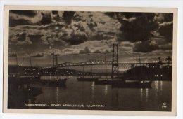 Cartao Postal Brasil  Florianopolis Ponte Hercilio Luz Bridge Real Photo Postcard Ca1940 W4-306 - Florianópolis