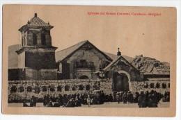 Tarjeta Postal De Bolivia Carabuco Iglesias Church Ethnic Native Ca1900 Postcard  W4-310 - Bolivia