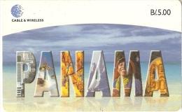 TARJETA DE PANAMA DE CABLE & WIRELESS DE B/5.00 NOMBRE PANAMA - Panamá