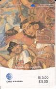 TARJETA DE PANAMA DE CABLE & WIRELESS DE B/5.00  HOLOCAUSTO A LAS RAZAS CHIP ROJO - Panamá