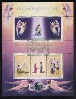"Christmas Island Used Scott #111 Souvenir Sheet Of 6 ""The Midnight Clear"" - Christmas - Christmas Island"