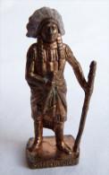 FIGURINE KINDER  METAL  INDIEN I - 6 SITTING BULL Cuivre - KRIEGER Ber�mmte Indianer-H�uptlinge