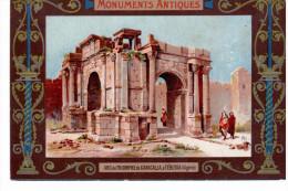 """2 Chromos """"monuments Antiques"""" - Arc De Triomphe De Caracalla & Tombeau De Théodoric - Zonder Classificatie"""