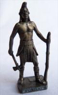 FIGURINE KINDER  METAL  INDIEN II - 1 PONTIAC vIEL ARGENT - KRIEGER Ber�mmte Indianer-H�uptlinge