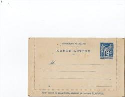 TB 187 - Entier Postal Type Sage - Carte - Lettre Piquage C  Neuve - Postal Stamped Stationery