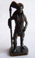 FIGURINE KINDER  METAL  INDIEN II - 3 CUT NOSE VIEUX BRUNI - KRIEGER Ber�mmte Indianer-H�uptlinge