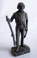 FIGURINE KINDER  METAL  INDIEN II - 4 CAP JACK  VIEL ARGENT - KRIEGER Ber�mmte Indianer-H�uptlinge