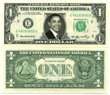 BARACK OBAMA - VRAI BILLET DOLLAR US ! Collection Pr�sident Etat Unis Am�rique Histoire Homme d�Etat USA