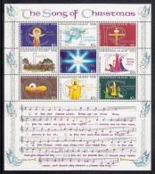 """Christmas Island MNH Scott #88 Souvenir Sheet Of 9 """"The Song Of Christmas"""" - Christmas - Christmas Island"""
