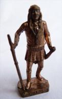 FIGURINE KINDER  METAL  INDIEN II - 5 CHATO CUIVRE - KRIEGER Ber�mmte Indianer-H�uptlinge