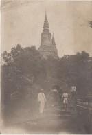 PHOTO CAMBODGE CAMBODIA OUDONG La Sépulture Du Roi Nordom 1914 17 X 12 Cms - Places