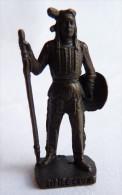 FIGURINE KINDER  METAL  INDIEN II - 7 LITTLE CROW VIEUX BRUNI - KRIEGER Ber�mmte Indianer-H�uptlinge